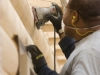Every log in your home is sanded and inspected.