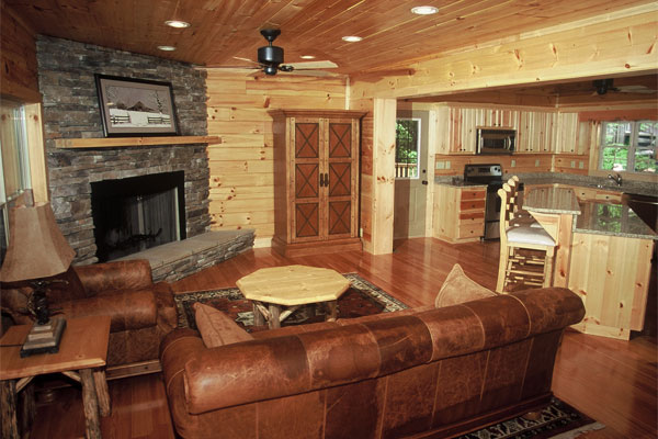 Lovely Log Cabin Decorating