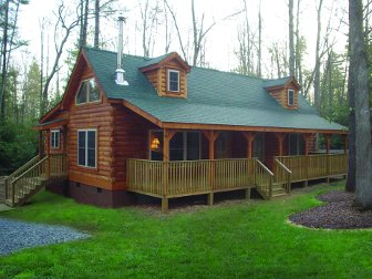 Log Home: Lake Lure 1