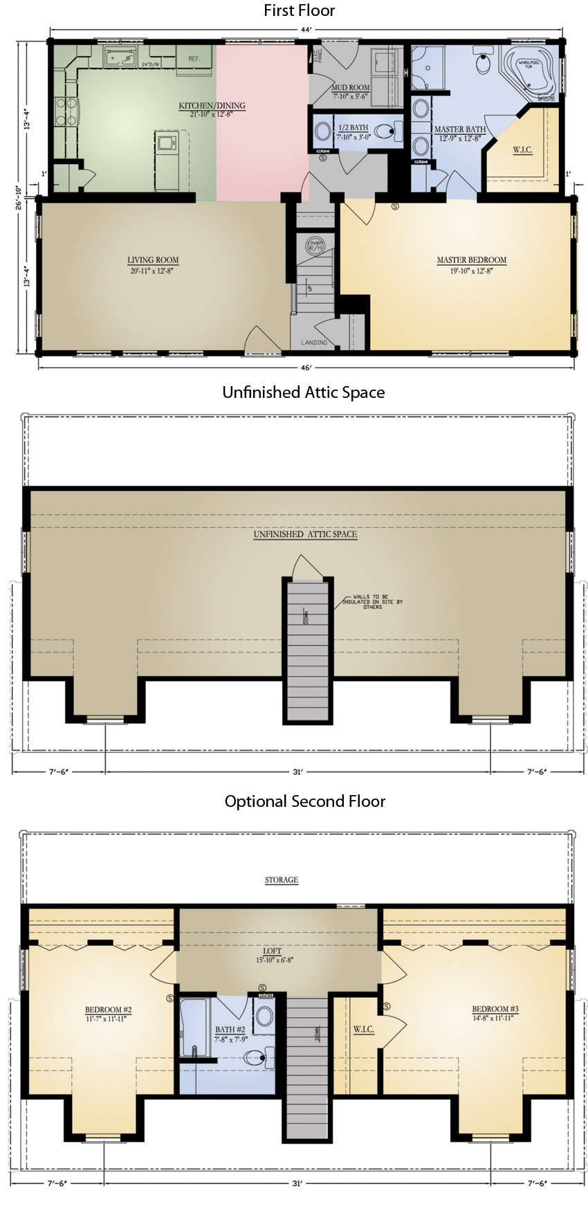 Log Home: Highlands 2 Floor Plan