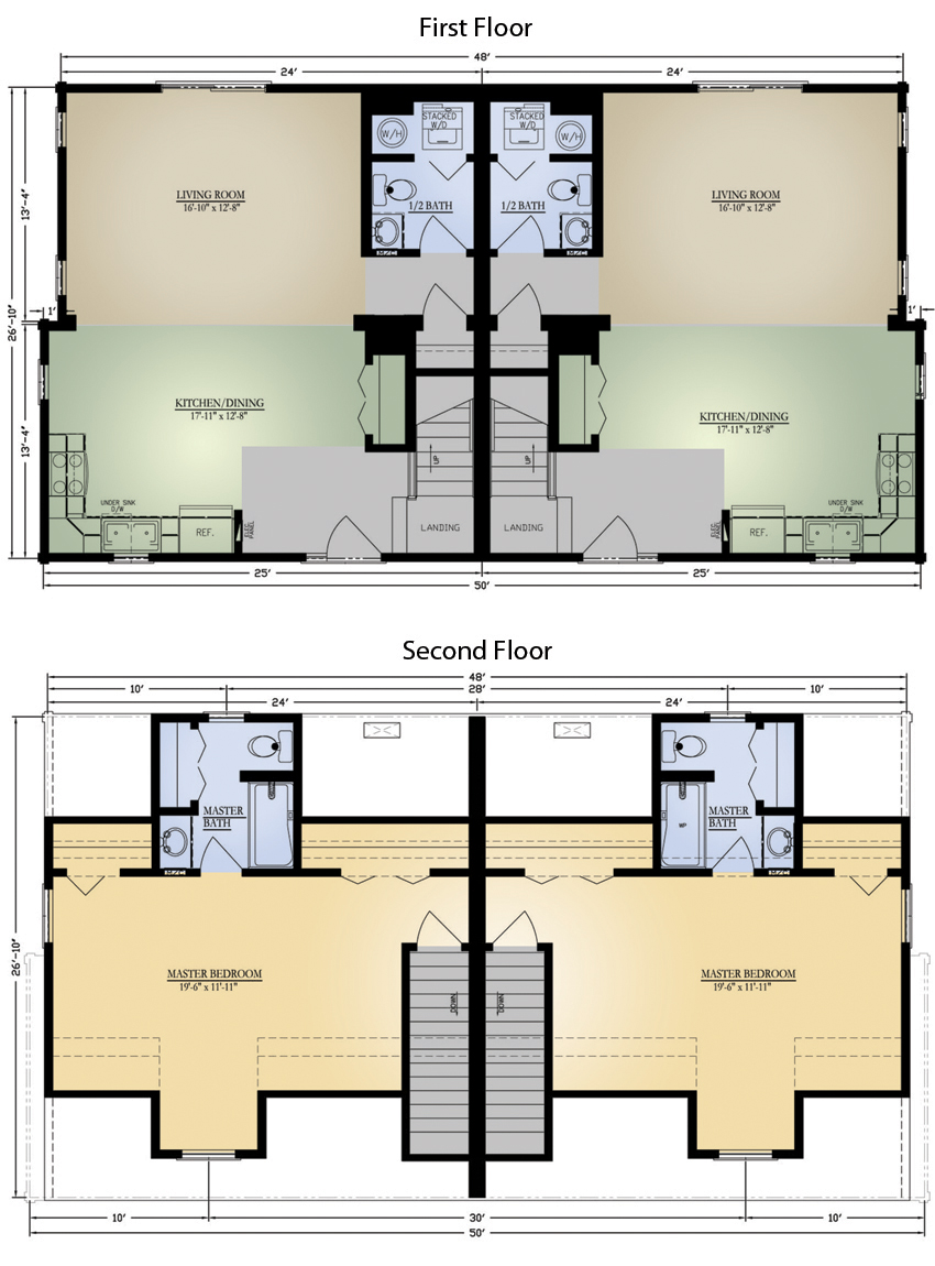 Highlands 4c duplex final image Modular duplex house plans