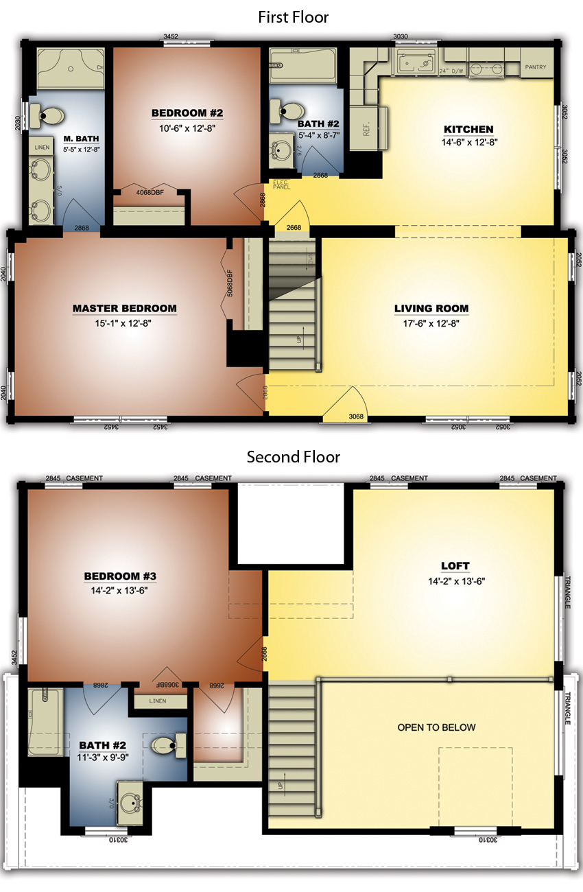 Log Home: Highlands 5 Floor Plan