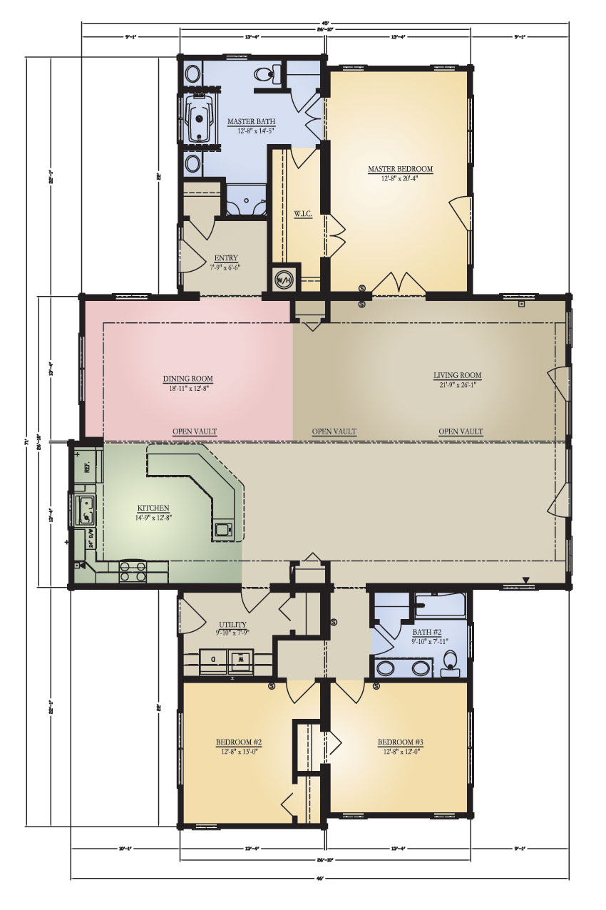 Log Home: Pisgah 2 Floor Plans