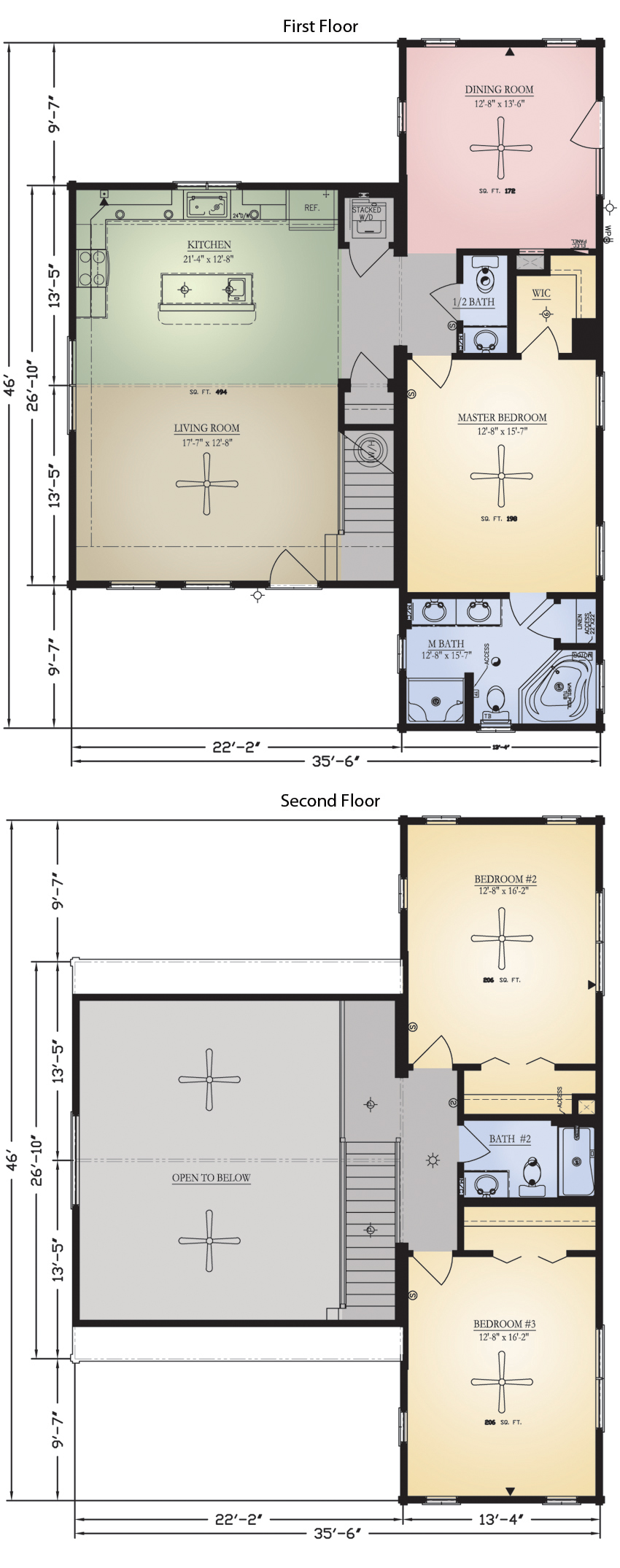 Log Home: Savannah 2 Floor Plan