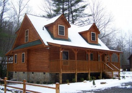 Log Home: Cullowhee 1