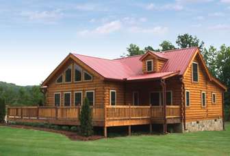 Log Home Floor Plan Banner Elk