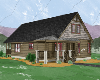 Log Home Floor Plan Boone 3