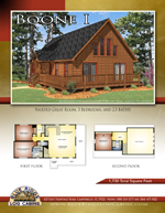 Log Cabin Floor Plans: Boone 1