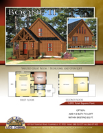 Log Cabin Floor Plans: Boone 2