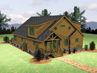 Log Home Floor Plan Lake Wylie 1