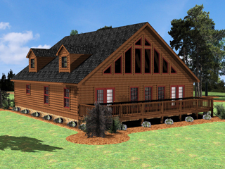 Log Home Floor Plan Lake Wylie 2