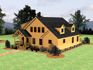 Log Home Floor Plan Lake Wylie 3