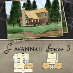 Log Cabin Floor Plans: Savannah 2