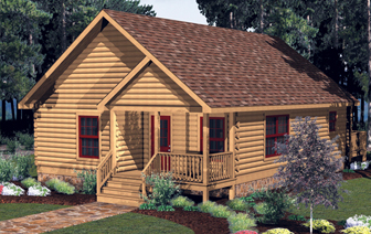 Log Home Floor Plan Carolina
