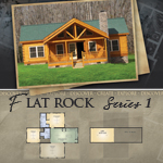 Log Cabin Floor Plans: Flat Rock 1
