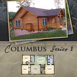 Log Cabin Floor Plans: Columbus 1