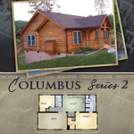 Log Cabin Floor Plans: Columbus 2