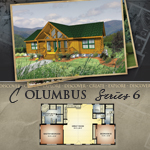 Log Cabin Floor Plans: Columbus 6
