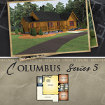 Log Cabin Floor Plans: Columbus 5