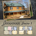 Log Cabin Floor Plans: Savannah 1