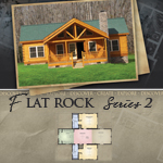 Log Cabin Floor Plans: Flat Rock 2
