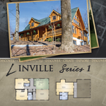 Log Cabin Floor Plans: Linville 1