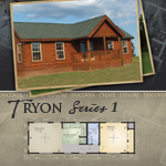 Log Cabin Floor Plans: Tryon 1