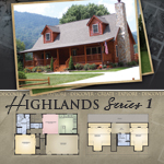 Modular Log Homes: Highlands 1