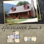 Modular Log Homes: Highlands 3