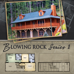 Log Cabin Floor Plans: Blowing Rock 1