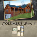 Log Cabin Floor Plans: Columbus 3