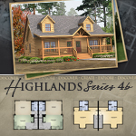 Modular Log Homes: Highlands 4B