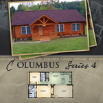 Log Cabin Floor Plans: Columbus 4