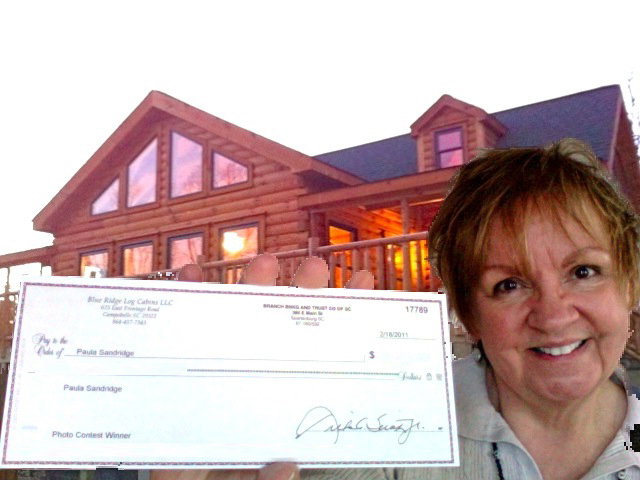 Blue Ridge Log Cabins Facebook Contest Winner