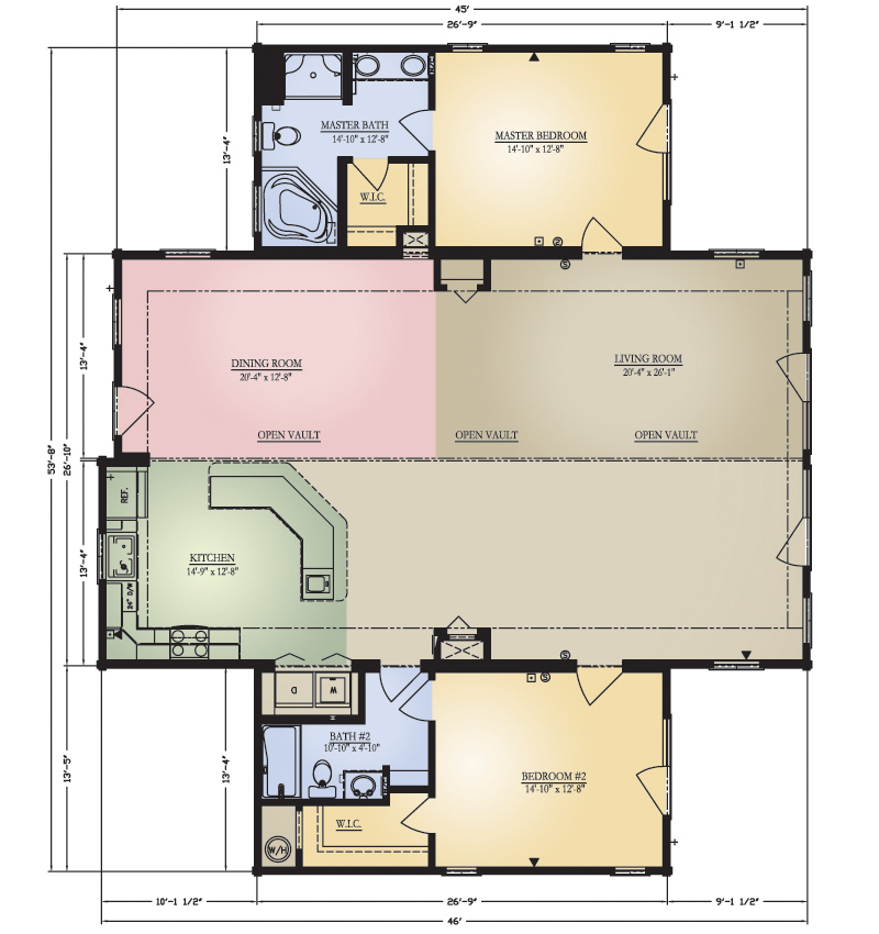 Log Home: Pisgah 1 Floor Plan