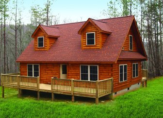 Log Home: Cullowhee 3