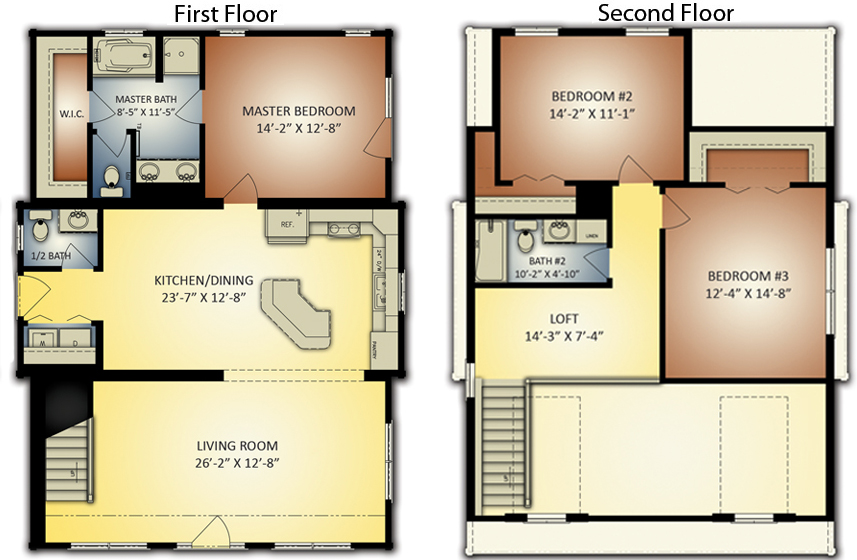 Log Homes: Banner Elk 2 Floor Plan