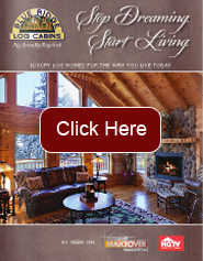 log home: brown brochure