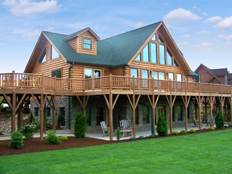 Log Home Floor Plan Jocassee 5