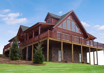Log Home Floor Plan Linville 2