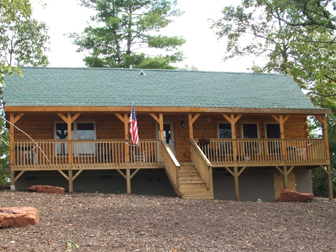 Log Home Floor Plan Tryon 1