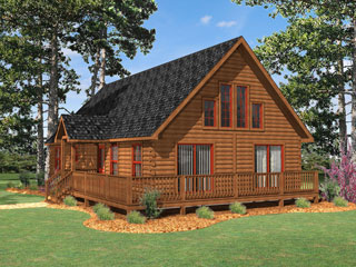 Log Home Floor Plan Boone