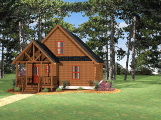 Log Home Floor Plan Boone 1