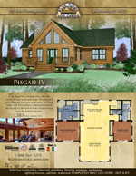 Log Cabin Floor Plans: Pisgah 4