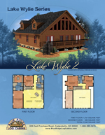 Log Cabin Floor Plans: Lake Wylie 2