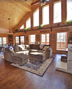 Stunning Brand New Log Home Sleeps 11