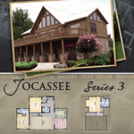 Modular Log Homes: Jocassee 3